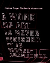 Flaubert, saying, quote